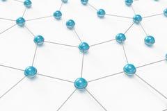 blått gjort nätverk för bollar ut Royaltyfri Bild
