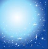 blått glansigt för bakgrund Royaltyfria Bilder