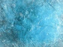 Blått glass skärvaabstrakt begrepp Arkivbild