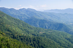 Blått-gräsplan Montenegro Arkivbild
