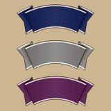 Blått-, grå färg- och lilabanduppsättning Royaltyfria Bilder