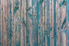 Blått-grå färger målade wood plankor Royaltyfri Foto