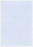 blått grafrasterpapper Arkivfoto