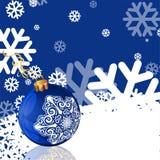 Blått hälsningkort för nytt år Arkivfoton