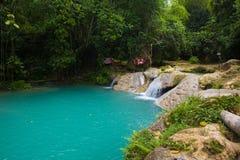 Blått hål Jamaica royaltyfri fotografi