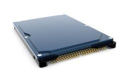 blått hårt diskdrev för dator 3d Arkivbilder