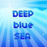 Blått hav för gärning. Royaltyfri Foto