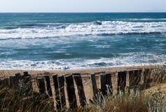 Blått hav med waves Arkivfoto