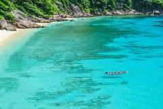 Blått hav på den Similan ön Thailand Royaltyfria Bilder