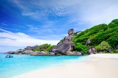 Blått hav på den Similan ön Thailand Royaltyfri Bild