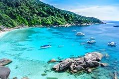 Blått hav på den Similan ön Thailand Fotografering för Bildbyråer