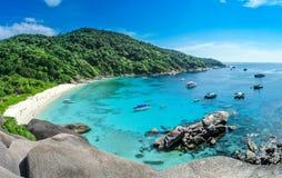 Blått hav på den Similan ön Thailand Arkivbilder