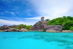 Blått hav på den Similan ön Thailand Royaltyfria Foton