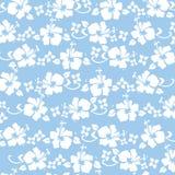 blått hibicustryck Royaltyfria Foton