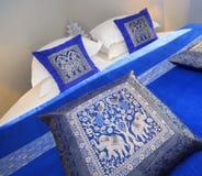blått hotellrum Arkivfoton