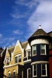 blått hus royaltyfria foton