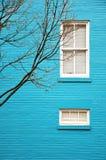 blått hus Arkivfoton