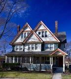 Blått hus i Beverly Fotografering för Bildbyråer