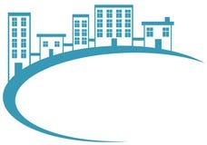 Blått husbaner Arkivfoto