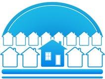 blått hussymbol Royaltyfri Foto