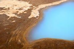 blått iceland ljust vatten Arkivbild