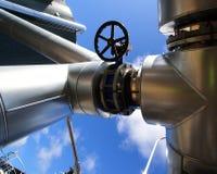 blått industriellt pipelinesstål tones zon Royaltyfri Bild