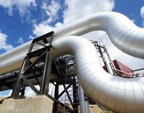 blått industriellt pipelinesstål tones zon Arkivbild