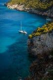 Blått Ionian hav i Zakynthos Royaltyfria Foton