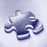 blått jigsawstycke Arkivbild