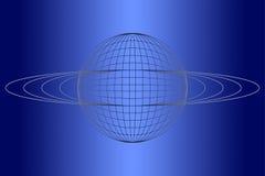 blått jordklot stock illustrationer