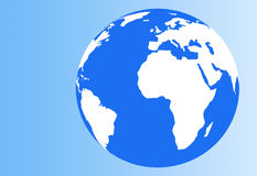 blått jordklot Arkivfoton