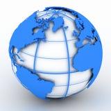 blått jordklot Arkivbilder