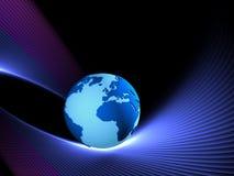 blått jordklot Arkivbild