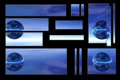 blått jordklot royaltyfri illustrationer