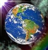 blått jordplanetavstånd Arkivfoton