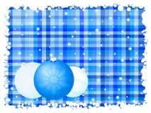 blått julband för bakgrund royaltyfri illustrationer