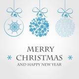Blått julbegrepp Vektor Illustrationer