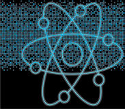 blått kärn- PIXELsymbol Fotografering för Bildbyråer