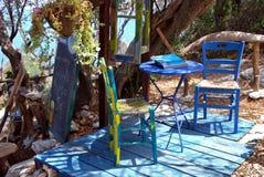 Blått kafé Fotografering för Bildbyråer