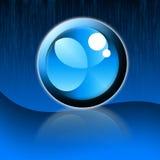 blått kallt symbol Royaltyfria Bilder