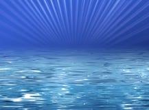 blått klart illustrationvatten för strand Royaltyfri Illustrationer