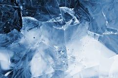 Blått knäckt exponeringsglas Royaltyfri Bild