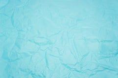 Blått knövlat papper Arkivfoton
