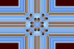 blått kors royaltyfri illustrationer