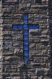 blått kors Arkivfoto