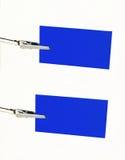 blått kortgemmeddelande arkivfoton