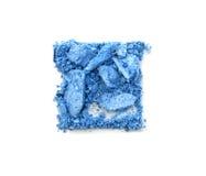 Blått krossad fyrkant för ögonskugga som isoleras på vit Royaltyfri Bild