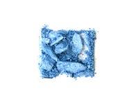Blått krossad fyrkant för ögonskugga som isoleras på vit Arkivbilder