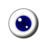 blått kulaöga Arkivfoto