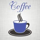 Blått kuper av kaffe Royaltyfri Foto